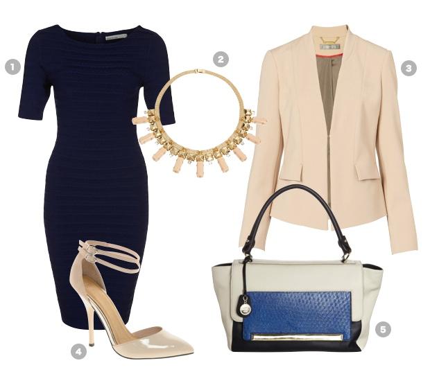 buero-outfit-dunkelblaues-kleid