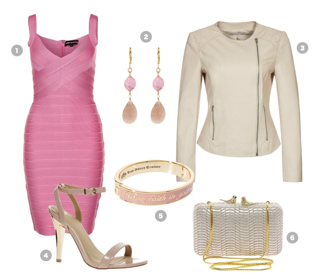 pink-party-outfit-herve-leger-dress