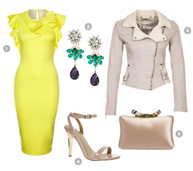 yellow-shift-dress-elegnat-look