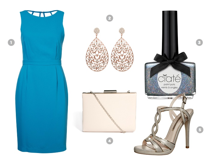 turquoise-party-dress-outfit-summer-cocktail