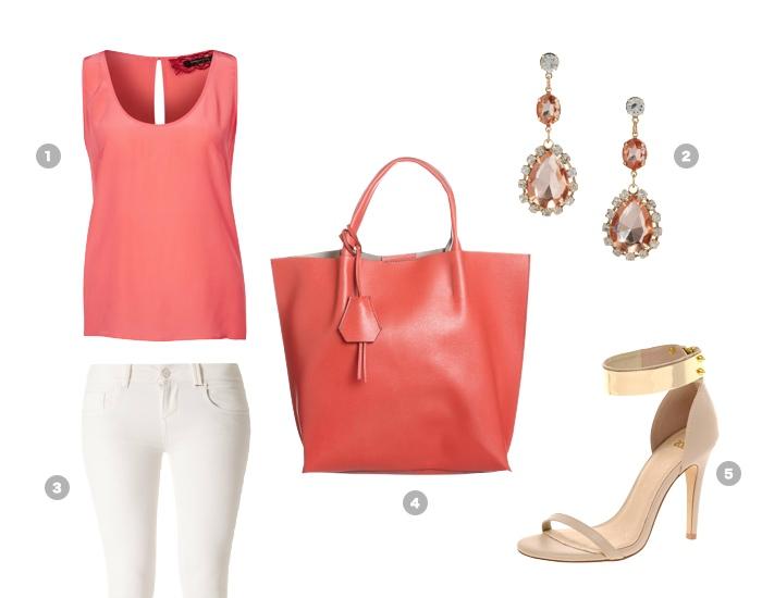 Coral kleid kombinieren
