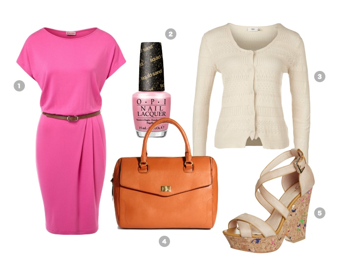 pink-summer-outfit-jersey-kleid-opi-nagellack
