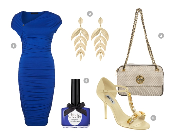 royal-blue-guess-kleid-moschino-bag